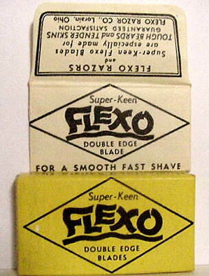 Vintage  FLEXO SUPER KEEN   FULL BOX DE  Safety Razor Blades