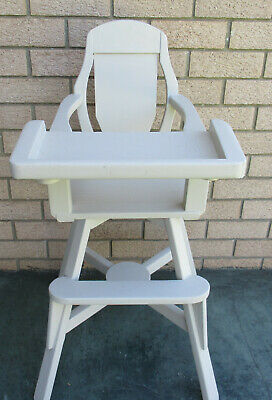 Baby's Vintage, Wooden High Chair, Fold Up Tray.  Good Condition