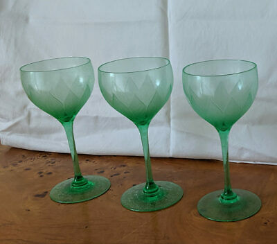 Antique Art Nouveau Glasses - Set Of Three
