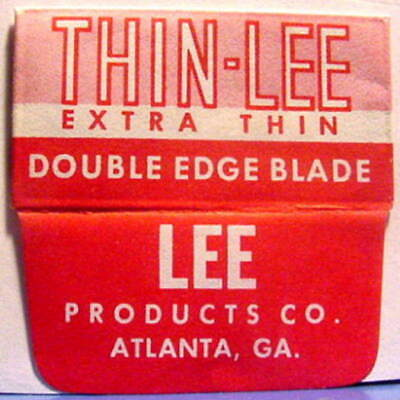 Vintage THIN LEE EXTRA THIN  DE Safety Razor Blade #2