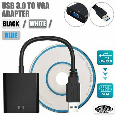 USB 3.0 to VGA Converter Adapter Multi-Display External Video Graphic Card AU