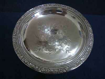 DARLING FLORAL MOTIF STERLING SILVER SMALL COMPOTE by FRANK WHITING
