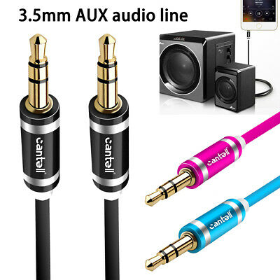 2M 3M 3.5mm Male to Male AUX Stereo Audio Cable Speaker Auxiliary Cord