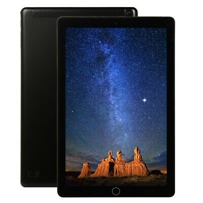 Negro 10.1'' Tableta Android 9.0 8+128GB WiFi HD Cámara Tablet PC bluetooth GPS