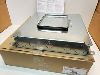 Wiremold RFB6 6-Gang Single or Multi-Service Recessed Floor Box Free Shipping