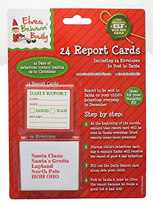 Pms 24Pc Mini Daily Report Card W/ Addressed Envelopes On B/