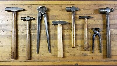 ANTIQUE BLACKSMITH Tools Hammers • Ball Pein Iron Forge Anvil Nippers Tongs ☆USA