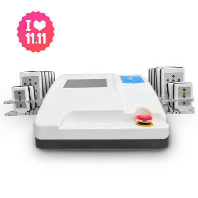 5mw Lipo Laser Therapy LLLT 14 Pads Body Shaping Cellulite Removal Machine Spa