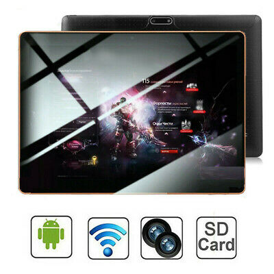"10.1"" Inch Android 9.0 Tablet PC 64GB 8 Core HD WIFI 4G Dual SIM Phablet Black"
