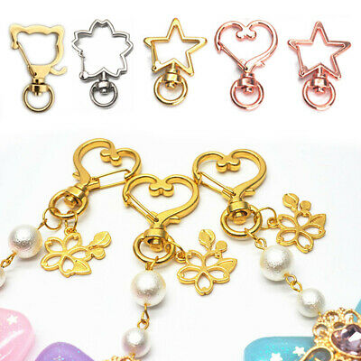 10Pc Snap Hook Lobster Claw Jewelry Clasps Pendant Craft Making Keyring Keychain