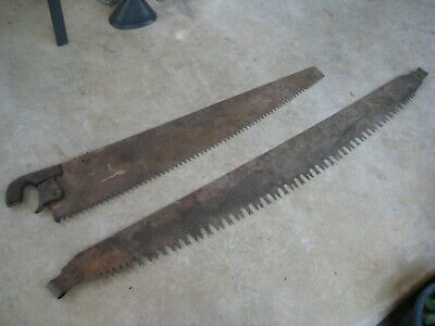Large Vintage Very Old Cross Cut Hand Saws x 2
