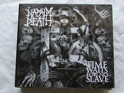 """Napalm Death-"""" Time Waits For No Slave"""" Cd 1St Press 2009 Limited Edition Digi"""