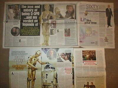 New UK Anthony Daniels I Am C-3PO Clippings Book Promo Star Wars