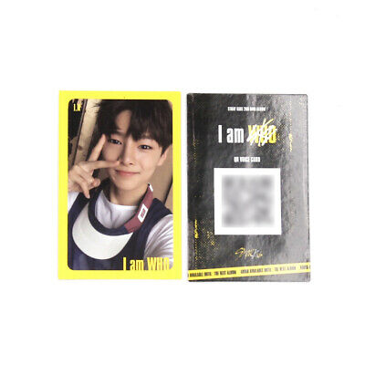[Stray Kids]I am WHO Official QR Photocard / YELLOW / Selfie - I.N