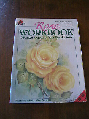 Plaid: Rose Workbook: No. #9231: 10 Painted Projects:1996  :Preloved