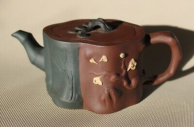 Old Chinese ZISHA '3 Friends of Winter'  teapot.