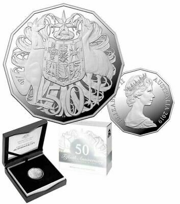 2019 Fifty Cent Silver Proof - *50Th Anniversary 50 Cent Coin*- Anda Issue