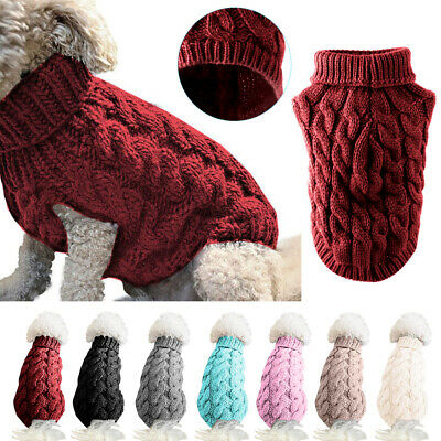 Pet Cat Dog Winter Warm Jumper knitted Sweater Clothes XMAS Costume Coat Apparel