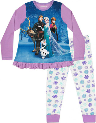 Disney Frozen Girls Pyjamas Sven, Anna & Elsa Ages 2 to 12 Years