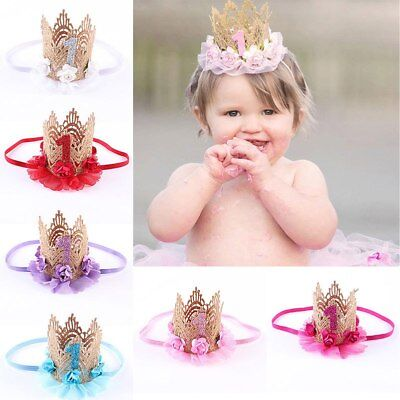 Baby Girl Crown Lace Flower Headband Infant Headdress Hair Accessories Great