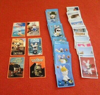 lot lapin crétin carte cinéma stickers carte PANINI Carrefour complet
