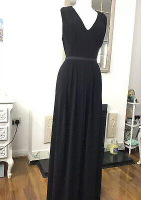 Long Black Evening Ballgown Formal Occasion Dress Size 12 Phase Eight