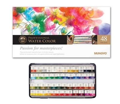 New Mungyo Professional Water Color Half Pan 12 Color Set Pastel MWPH-12PT