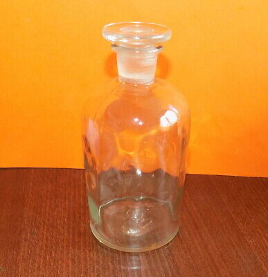 Antique Apothecary Pharmacy Medical Drugstore Glass Bottle w/Stopper