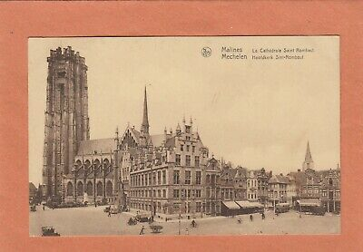 943 - Malines Cathedrale St Rombaut + Timbre 403 + Cachet Mechelen