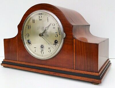 German Walnut Westminster Whittington Chiming Mantle Clock