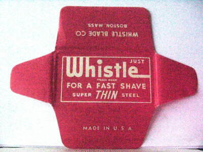 Vintage WHISTLE THIN Safety Razor Blade