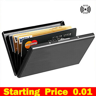 RFID Protector Anti-scan Stainless Steel Case Blocking Wallet Credit Card Holder