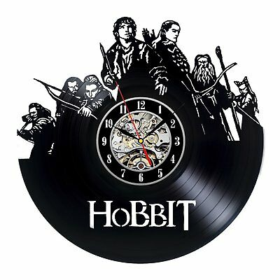 Movie Decor Hobbit Lord of the Rings LP Vinyl Record Wall Clock Handmade Art