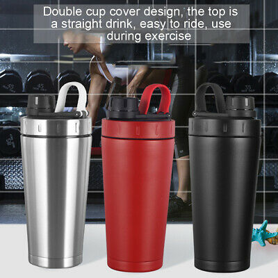 Stainless Steel Water Bottle Double Walled Drink Insulated Sports Gym Shaker Cup