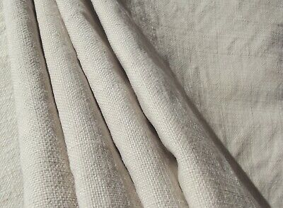 Vintage French Provincial Fabric Oatmeal Chanvre organic linen 19th century