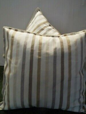 £12.99 For A Pair Of 24 Inch Extra Large Giant Cushions Brown,Ivory And Coffee