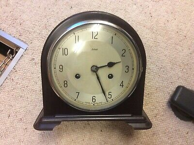 Enfield Mantle Clock 1940's Bakerlite, Hourly Chime