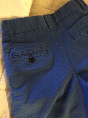 Boys Ted Baker Blue Chino Shorts Age 10 years in excellent condition