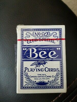 Bee Back No 67 No 92 Club Special Playing Cards With Tax Stamp