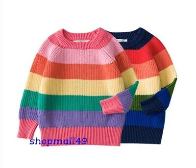 Girls Winter Sweater Kids Jumper Childrens Warm Christmas Knitted Age 2-7 Years