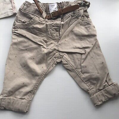 Girls Age 3-6 Month Chino Style Trousers From Next
