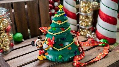 New Disney Parks Mickey Light Up Tree Popcorn Bucket Christmas Holidays 2019 WDW