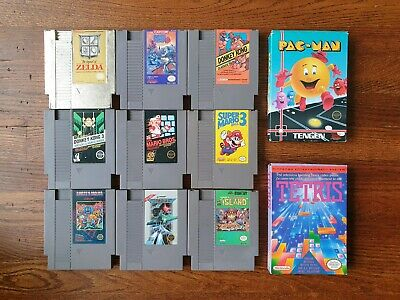 11 Nintendo Entertainment System (NES) Games (Mega Man, Mario, Donkey Kong)