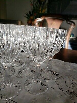 Mikasa Crystal PARK LANE Wine Glass Goblet 6 3/8 inches tall