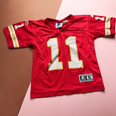 Vintage Kids 90s Red Kansas City Jersey Sports Casual Top 5-7 Y