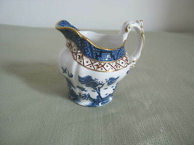 Vintage Booths, England, A8025, Real Old Blue Willow, Gold Trim,Creamer