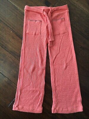 Zara Girls Soft Collection Age 7 Trousers Coral