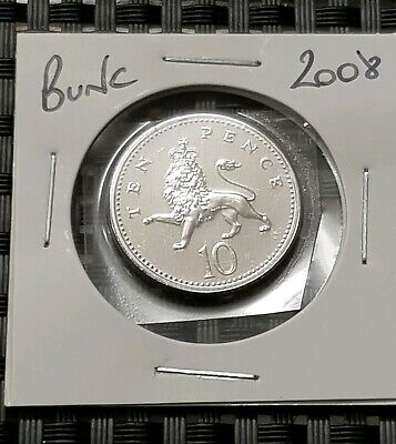 2008 Brilliant uncirculated Britannia 10p Coin,Ten Pence,Bunc/Unc/Bu,GB/UK