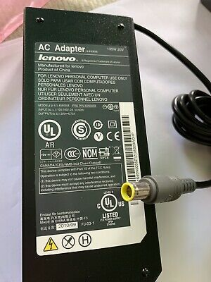 135W 20V AC Power Adapter Charger Supply Cord For Lenovo ThinkPad W540 W541 PM