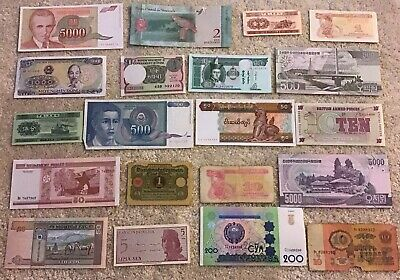 Lot Of 20 X World Banknotes. Worldwide Collection. All Different Set.
